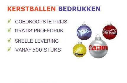 Kerstballen bedrukken met uw logo? | Promoboer